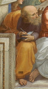 """Анаксимандър от Милет е древногръцки философ ученик на Талес. Автор е на първото в Гърция стихийно-материалистическо и наивно-диалектическо съчинение """"За природата"""" (незапазено). Той е представител на школата на натурфилософите. В това се изразява философията на първите старогръцки мислители - те се опитват да определят началото на света и нещата и да дадат разумно обяснение на процесите, които се извършват в природата"""