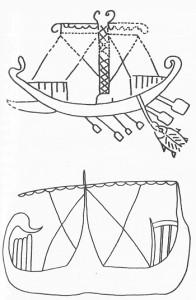 Грифит от Вейи, началото на VII в.пр.н.е; търговски кораб от Кипър, VII в.пр.н.е