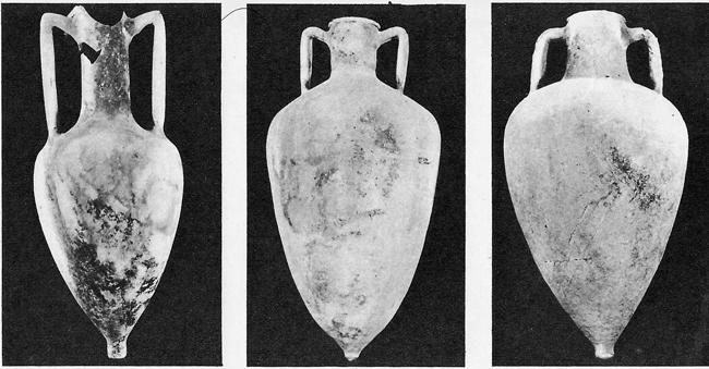 Амфора от остров Родос, III в. пр. н.е. ------- Амфора от остров Кос, III - II в. пр. н.е. ------- Сиопска амфора