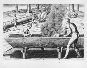 Dugout_canoe_manner_boats_de_bry