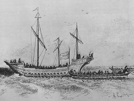 Нападение на турска галера. Рисунка от 1900 г