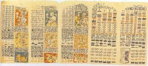 писмо на маите - IV-VIII век. В писмото се проследява движението на Венера в период от 104 години