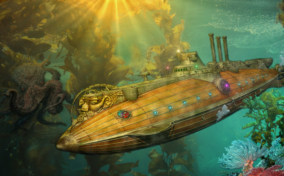 submarine-The-Nautilus-20000-Leagues-Under-the-Sea-Jules-Verne
